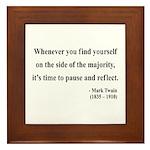 Mark Twain 11 Framed Tile
