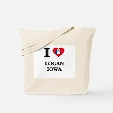 I love Logan Iowa Tote Bag
