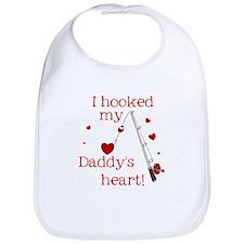 I Hooked Daddy's Heart Bib