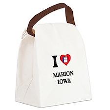 I love Marion Iowa Canvas Lunch Bag