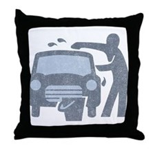 Carwash Throw Pillow