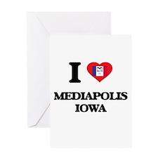 I love Mediapolis Iowa Greeting Cards