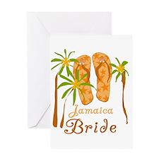 Tropical Jamaica Bride Greeting Card