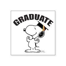 "Snoopy Graduate Square Sticker 3"" x 3"""