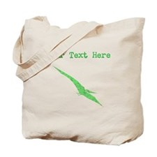 Distressed Green Pterodactyl (Custom) Tote Bag