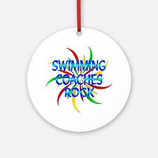 Swimming Coaches Rock Ornament (Round)