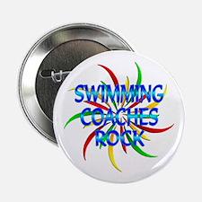 "Swimming Coaches Rock 2.25"" Button"