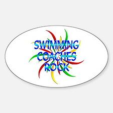 Swimming Coaches Rock Sticker (Oval)