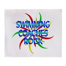 Swimming Coaches Rock Throw Blanket