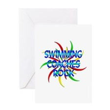 Swimming Coaches Rock Greeting Card