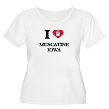 I love Muscatine Iowa Plus Size T-Shirt