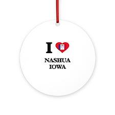 I love Nashua Iowa Ornament (Round)