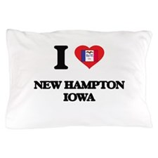 I love New Hampton Iowa Pillow Case