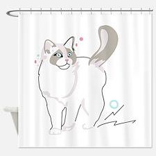 Ragdoll cat Shower Curtain