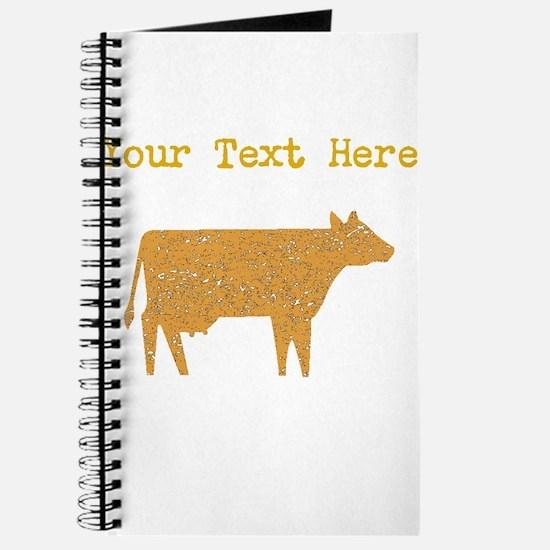 Distressed Brown Cow (Custom) Journal