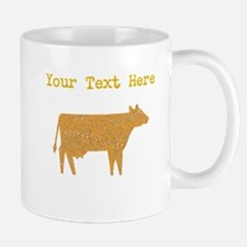 Distressed Brown Cow (Custom) Mugs