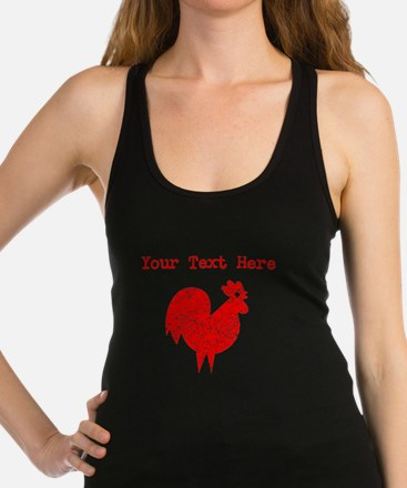 Distressed Red Rooster (Custom) Racerback Tank Top