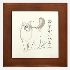 Ragdoll cat Framed Tile