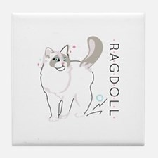 Ragdoll cat Tile Coaster