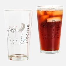 Ragdoll cat Drinking Glass