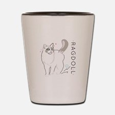 Ragdoll cat Shot Glass