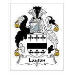 Layton Family Crest Small Poster