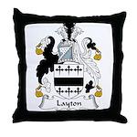 Layton Family Crest Throw Pillow