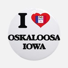 I love Oskaloosa Iowa Ornament (Round)