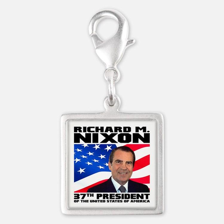 37 Nixon Silver Square Charm