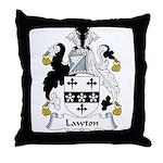 Lawton Family Crest Throw Pillow