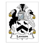 Lawson Family Crest Small Poster