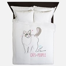 Ragdoll cats are greater than people Queen Duvet