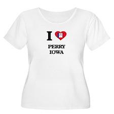 I love Perry Iowa Plus Size T-Shirt