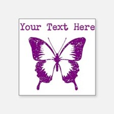 Distressed Purple Butterfly (Custom) Sticker