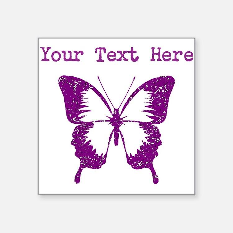 Distressed Purple Butterfly (Custom) Sticker
