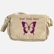 Distressed Purple Butterfly (Custom) Messenger Bag