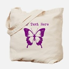 Distressed Purple Butterfly (Custom) Tote Bag