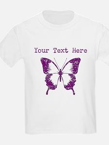 Distressed Purple Butterfly (Custom) T-Shirt