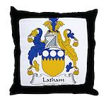 Latham Family Crest Throw Pillow