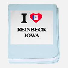 I love Reinbeck Iowa baby blanket