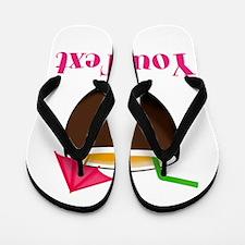 Personalizable Tropical Coconut Drink Flip Flops