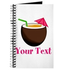 Personalizable Tropical Coconut Drink Journal