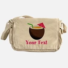 Personalizable Tropical Coconut Drink Messenger Ba