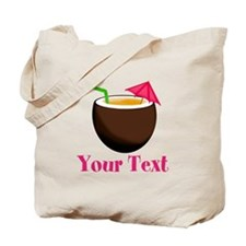 Personalizable Tropical Coconut Drink Tote Bag