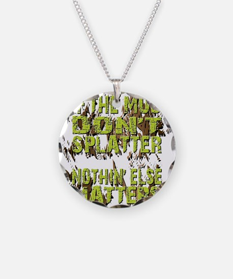 Mud Splatter Boggin Design Necklace