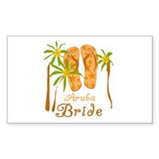 Tropical Aruba Bride Rectangle Decal