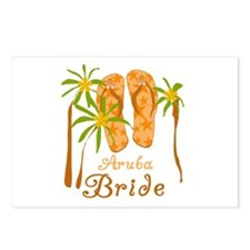 Tropical Aruba Bride Postcards (Package of 8)