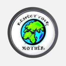Respect Your Mother Wall Clock
