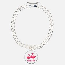 Personalizable Pink Flamingoes Bracelet