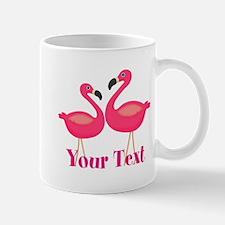 Personalizable Pink Flamingoes Mugs